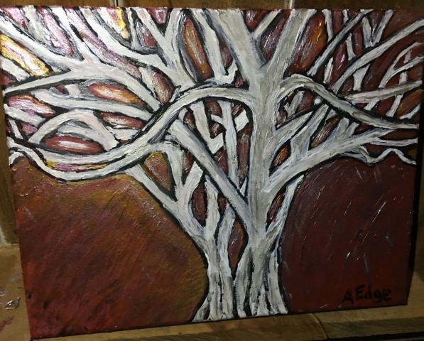 Painting by Angela Edge, The Tree, SOLD